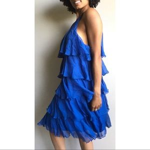 BCBGMaxaria Blue Silk Dress